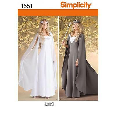 Simplicity Sewing Pattern Misses' Costume Gown Size  6 - 24 1551