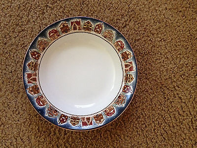 SAKURA Snow Angel Village 2 White Coupe Soup Cereal Bowls  Debbie Mumm Oneida