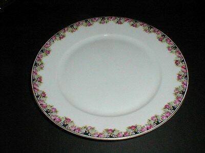 KPM Krister King's Porcelain Germany #26604 Pink Roses Dinner Plate (loc-H26)