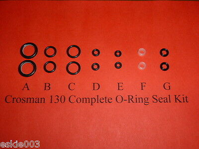Crosman Model 130 Air pistol Two (2) Complete O-Ring  Seal Kits for .22 cal.