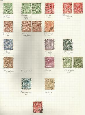 1924-6 Gv Block Cypher Set Inc Some Wat And Shade Varieties ,see Scan