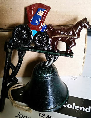 Cast Iron Small Amish Buggy  Bell