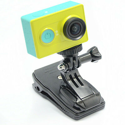 360 Rotary Backpack Hat Belt Mount Clamp Clip for Gopro Hero3 3+ 4 Action Camera