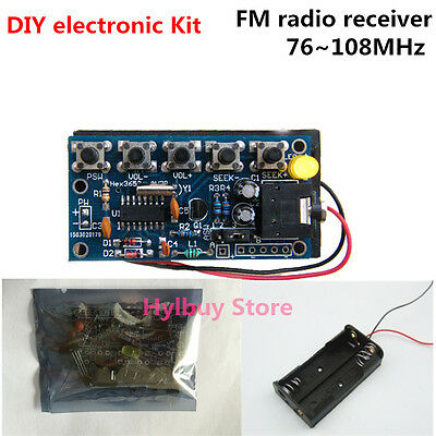 76MHz-108MHz Wireless Stereo FM Radio Receiver Module Electronic Learning Kits