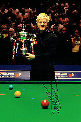 Neil ROBERTSON Signed Autograph Snooker Champion 12x8 Photo AFTAL COA Australian