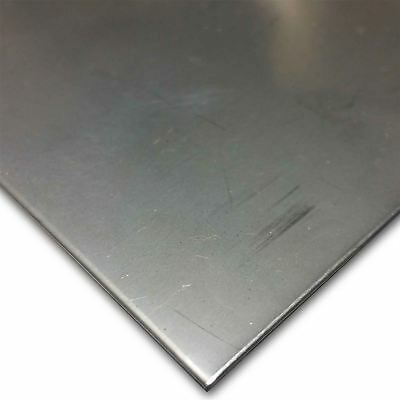 "304 Stainless Steel Sheet .024"" (24 ga.) x 12"" x 12"" - 2B Finish"
