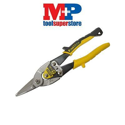 Stanley Tools 214563 Yellow Aviation Snip Straight Cut 250mm (10in)