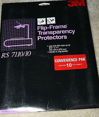 3M flip frame transparency protectors RS7110/10 new in sleeve 25 pieces