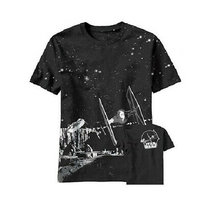 Star Wars Killer Pursuit Tie Fighters and Millennium Falcon T-Shirt, NEW UNWORN