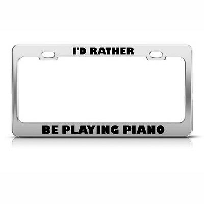 I/'D Rather Be Playing Backgammon Metal License Plate Frame Tag Holder