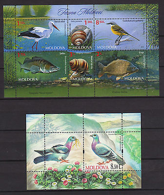 Moldova Fauna Small Collection Mnh 4 Full Sets Fish Bird Leopard R15314