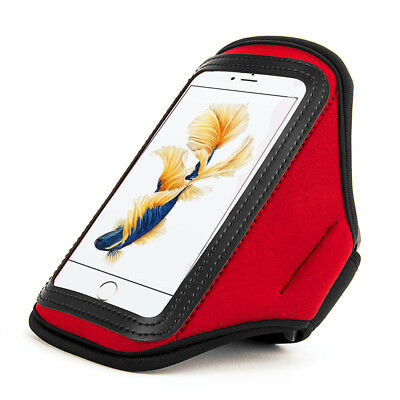 Red Waterproof Neoprene Gym Sport Armband Case for Samsung Galaxy S6 Edge Active