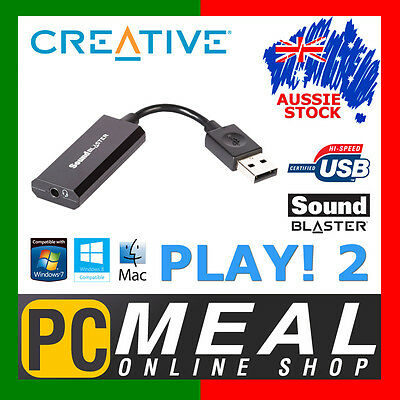 CREATIVE Sound Blaster Play! 2 USB Sound Card External PC Audio MIC 3.5mm PLAY2