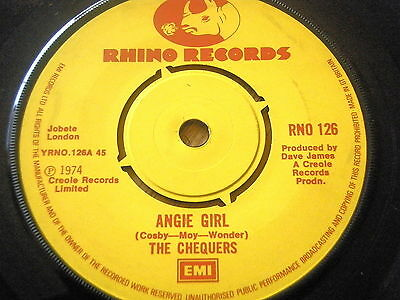 """The Chequers - Angie Girl  7"""" Vinyl"""