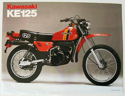 KAWASAKI KE 125 - Motorcycle Sales/Specification Sheet - c1980 - #P/N 99943-1135