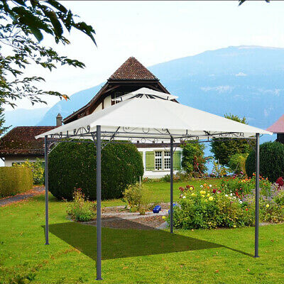 3x3M Metal Pavilion Gazebo Awning Canopy Sun Shade Shelter Marquee Party Tent