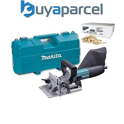 Makita PJ7000 240v Corded Biscuit Plate Jointer 700w in Case + 1000 10mm Dowels