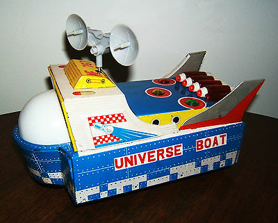 Universe Boat, ME 767, China, Battery Toy, Space Toy, Weltraumspielzeug, OVP
