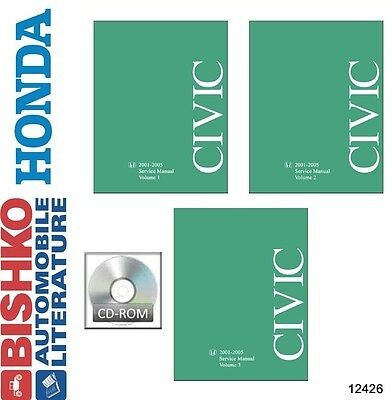 2001 2002 2003 2004 2005 Honda Civic Service Repair Manual Dvd Engine Oem