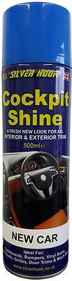 Silverhook New Car Silicone Cockpit Shine Dashboard and Trim Cleaner 500ml Can