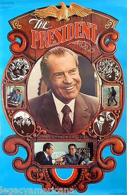 Official 1972 Richard Nixon THE PRESIDENT Reelection Campaign Poster (2698)