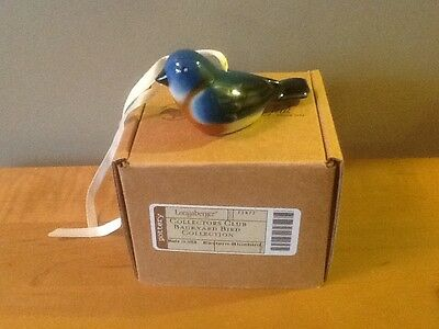 Longaberger Collectors Club Eastern Bluebird Backyard Bird Collection - NEW