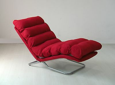 Relax Liege Lounge Sofa Design Couch Sessel Relaxliege Neu Rot