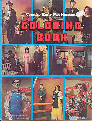 Vintage 1978 COUNTRY MUSIC WAX MUSEUM Unused Coloring Book Collectors L@@K
