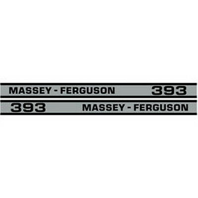 New 393 Massey Ferguson Tractor Hood Decal Kit Mf Cab High Quality Vinyl Decals