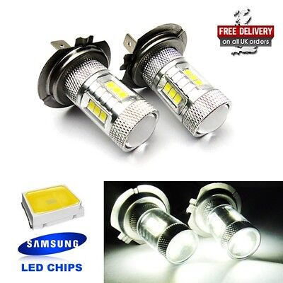 2x H7 499 Bulb SAMSUNG High Power 15W LED HeadLight Main Daytime Fog Light White