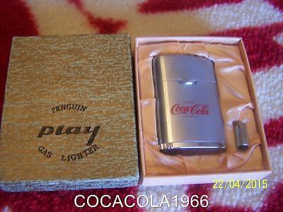 RARE Vintage 1930 PENGUIN OLD Coca Cola Drink LIGHTER Coke Bottle METAL GAS Play