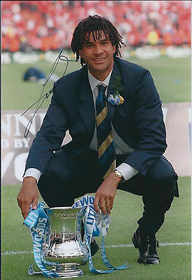 Ruud GULLIT Signed Autograph 12x8 Photo AFTAL COA Chelsea Manager FA Cup