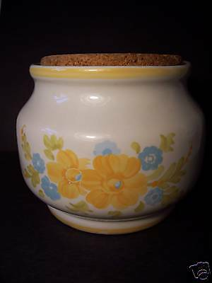 Decorative Storage - Food Crock w/Cork Cover- Stoneware