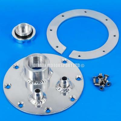 Alloy Fuel Tank Filler Plate Assembly, Back Plate, 8 Bolts & Billet Fuel Cap