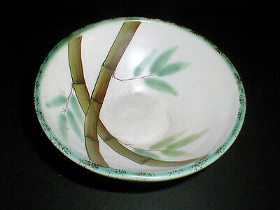 SE/S E China Green Leaves Brown BAMBOO #SE1 Cereal Bowl/s (Loc-D6)