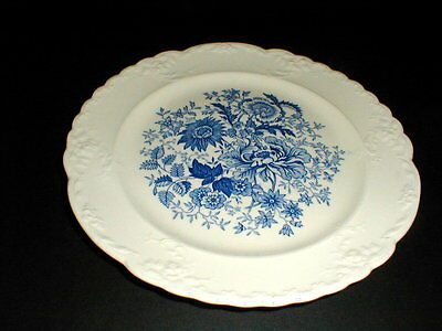 Taylor Smith Taylor Blue Floral Embossed Salad Plate/s