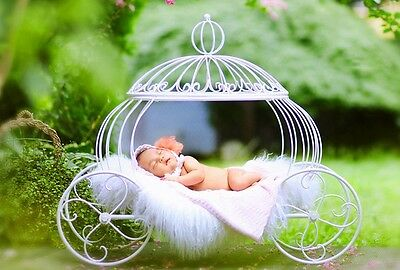 Hot! New! Creative Photography Prop Iron Pumpkin Carriage for Newborn Baby D-61
