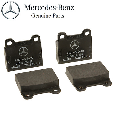 OEM GENUINE MERCEDES BENZ NEW REAR BRAKE PADS 76-89 R107 SL SLC CHASSIE