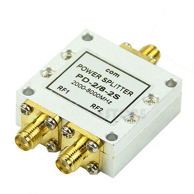 RF Broadband PD-2 SMA Connect SMA Wifi/GPS Power Spilitter Microstrip Divider