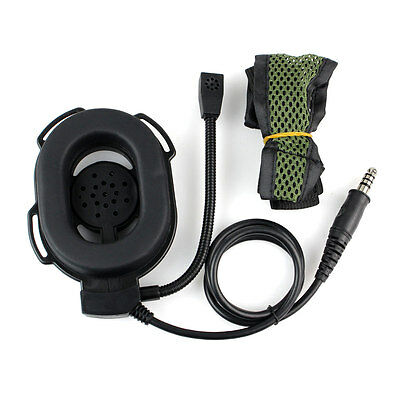 HD-01 Green Adjustable Z Tactical Bowman Elite II Headset Military style+track