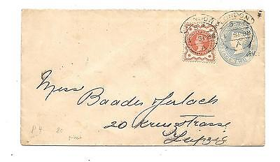 Great Britain #111 On Stamped Envelope To Leipzig -- 1888