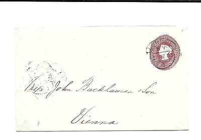 Great Britain - Stamped Envelope To Vienna -- 1883