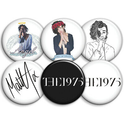 The 1975 Band - 6 x Button Badges & Sticker Set - 25mm 1inch Badges + 2 Stickers
