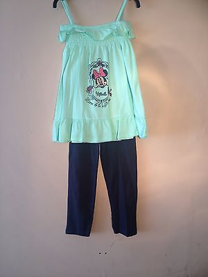 BRAND NEW WITHOUT TAGS: Girls Green Minnie Mouse top and legging sets, age: 5/6