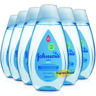 6x Johnsons Baby Bath Liquid 200ml Everyday Gentle Cleansing