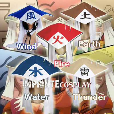 Naruto Hat Cosplay Fire Wind Water Earth Thunder FREE P&P