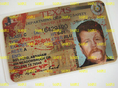 Walking Dead  Driver's License [ Sgt. Abraham Ford ]  Type 2 Blood spatter