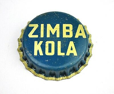 Sehr alter Zimba Kola Kronkorken USA 1940er Soda Bottle Cap