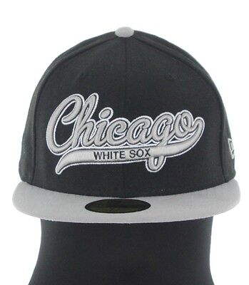 eabdefb2b34ab4 New Era Chicago White Sox Scripted Fitted Baseball Cap Size 7 5/8 Brand New