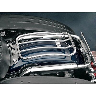 Motherwell Chrome Solo Luggage Rack For Harley Davidson Touring